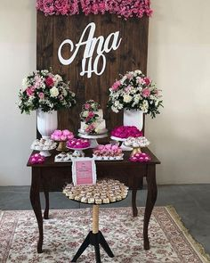 ideas for all types of festivities - Birthday FM : Home of Birtday Inspirations, Wishes, DIY, Music & Ideas 40th Birthday Decorations, 40th Birthday Parties, Mom Birthday, Birthday Celebration, Gold Bridal Showers, Birthday Pictures, Holidays And Events, Event Decor, Ideas Para Fiestas