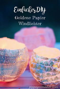 Goldene Papierlaternen by pippapiemaker.com