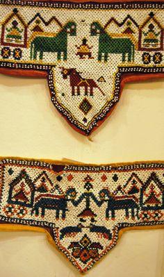 "Textils antics de ""beadwork"", India"