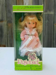 Vintage 1976 Mattel ROSEBUD DOLL ~ # 9783 ~ Baby Darling Rose ~ MINT in Box NRFB #Mattel #Dolls #Rosebud