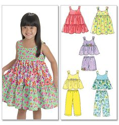 M6017 | Toddlers'/Children's Tops, Dresses, Shorts And Pants | Infants/Toddlers | McCall's Patterns
