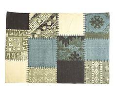 Alfombra patchwork de algodón - 70x140 cm