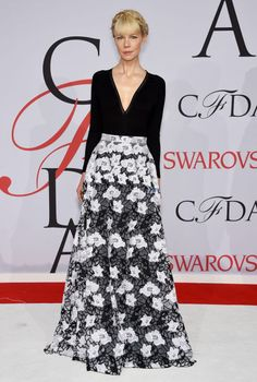 Erin Fetherston in her own design at the 2015 CFDA Fashion Awards. See all the looks from the night.