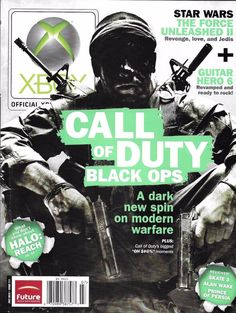 X-Box magazine Call of Duty Black Ops Star Wars The Force Unleashed Guitar Hero