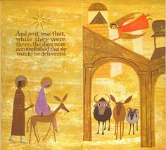 The First Noel, a small Golden Book illustrated by the husband-wife team of Alice and Martin Provensen, 1959.