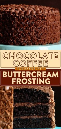 This Chocolate Buttercream is a delicious homemade frosting idea! This easy chocolate dessert recipe is infused with a pure coffee flavor that enhances the richness of the chocolate. It's the best invention ever! Coffee Buttercream, Chocolate Buttercream, Buttercream Frosting, Homemade Frosting, Frosting Recipes, Dessert Recipes, Easy Chocolate Desserts, Chocolate Coffee, Sweets Cake