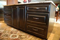 Lovely, distressed cabinets on this kitchen island. Kitchen Island Cabinets, Home Projects, Kitchen Colors, Cabinet, Distressed Cabinets, Kitchen, Rustic Kitchen Cabinets, Kitchen Cabinet Colors, Rustic Kitchen