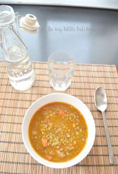 Soja con verduras al curry