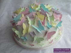 Pastel Butterflies Birthday cake from Cakeadelic