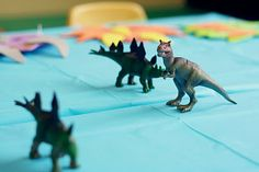 Plastic Dinosaurs for the table, Dollar store