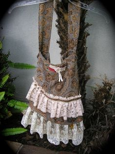 Bohemian Fabric Bag with tassel