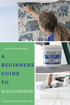 A beginners guide to wallpapering that will walk you through the steps! #wallpaperingtips #howtowallpaper Coastal Wallpaper, Wallpapering Tips, Wall Decor Crafts, Be My Teacher, Do It Yourself Home, Decorating On A Budget, How Are You Feeling, Bedroom Makeovers, Rock Stars