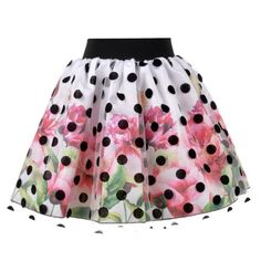 Floral Skirt with Polka Dot Tulle | Love Made Love | Wolf