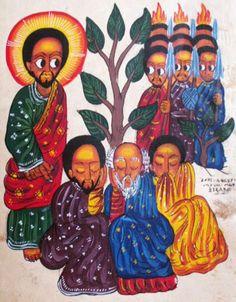 Ethiopian Iconography…the arrest of Jesus at Gethsemane via http://ashesforjustice.tumblr.com