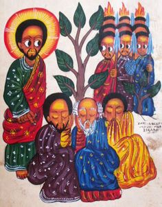 Ethiopian Iconography…the arrest of Jesus at Gethsemane via http://ashesforjustice.tumblr.com