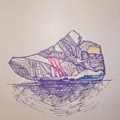 Instagram : @100daysofsketching Quick shoe study