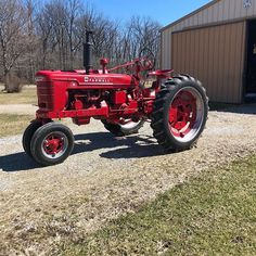 Nice Indiana spring day! Had to take advantage of it and stretch some tractors legs! #antiquetractors #vintagetractors #farmalltractors…