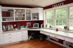 amazing craft room - Two Peas in a Bucket
