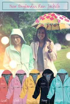 I like these raincoats, and I can put my letters on them