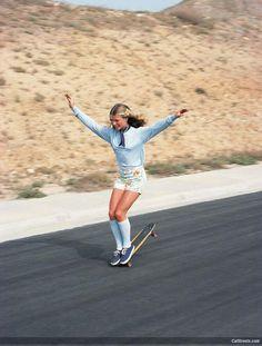 Ellen O'Neal, the greatest woman freestyle skateboarder in the 1970s
