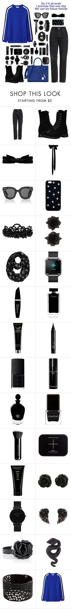 """""""Future Friends"""" by ciaobella18 ❤ liked on Polyvore featuring Citizens of Humanity, Frye, Gucci, STELLA McCARTNEY, George, Fitbit, Max Factor, Narciso Rodriguez, NYX and NARS Cosmetics"""