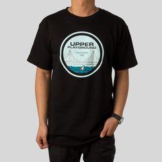 Golden Gate Shark T-Shirt in Black by Dustin Canalin