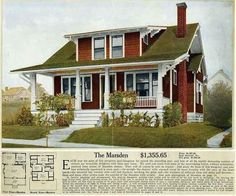 Many Arts  Crafts houses were built from kits manufactured by Sears, Roebuck  Co., Aladdin and other kit makers. Kits weighed about 25 tons, included a detailed assembly manual, extensive blueprints, and about 10-30,000 individual pieces. Sears alone sold over 70,000 kit homes from 1908 to 1940. bungalows