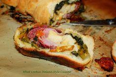 What's Cookin' Italian Style Cuisine: Antipasto Calzone Recipe