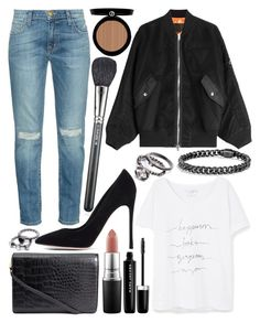 """""""Untitled #624"""" by daimy-style ❤ liked on Polyvore featuring Current/Elliott, Violeta by Mango, Alexander Wang, MAC Cosmetics, Giorgio Armani, Gianvito Rossi and Marc Jacobs"""