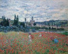 Campo di papaveri a Vétheuil Campo di papaveri a Vétheuil, Claude Monet 1879; Olio su tela (73 x 92 cm) Il quadro è attualmente esposto presso la Fondation
