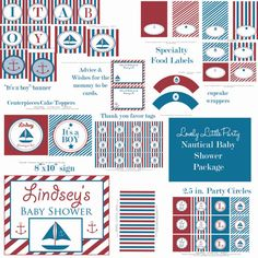 Personalized Printable Nautical Baby Shower by lovelylittleparty, $25.00