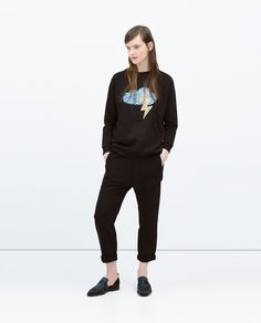 Image 1 of SEQUIN APPLIQUE T-SHIRT from Zara
