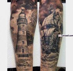 Nautical tattoo sleeve, anchor sleeve tattoo, pirate tattoo sleeve, s 3d Tattoos, Body Art Tattoos, Tattoos For Guys, Sleeve Tattoos, Cool Tattoos, Ship Tattoo Sleeves, Ocean Tattoos, Nautical Tattoo Sleeve, Nautical Tattoos
