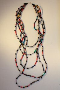 Long Tin Tube Necklace #fairtrade #worldpeaces