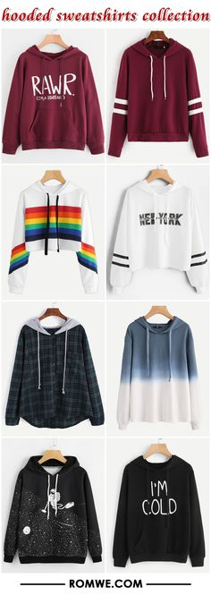hooded sweatshirts collection 2017 - romwe.com