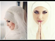 ▶ Simple Bridal Hijab Tutorial - YouTube #PerfectMuslimWedding