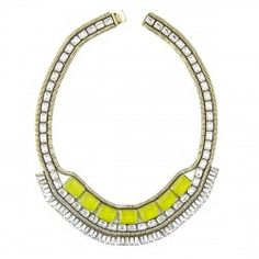 clara necklace in chartreuse, by loren hope.  all of her pieces are beautiful!