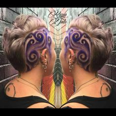 This Rainbow Hair Trend Is About To Be Huge #refinery29  http://www.refinery29.com/2016/04/107868/rainbow-hair-undercuts#slide-8  A hair masterpiece worthy of a frame. ...