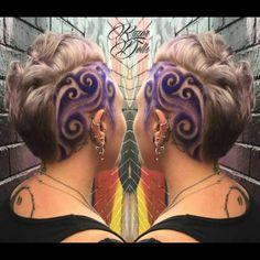 Kuvahaun tulos haulle hair tattoos for ladies Love Hair, Great Hair, Awesome Hair, Undercut Hairstyles, Pretty Hairstyles, Wedding Hairstyles, Undercut Hair Designs, New Foto, Natural Hair Styles