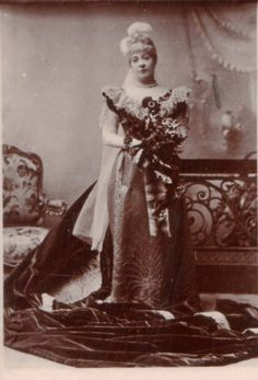 """Alfred Ellis photograph of Rosina Brandram as Lady Sophy in Act 2 of the original production of """"Utopia Limited"""" (1893)."""