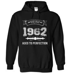 Made In 1962 Aged To Perfection T-Shirts, Hoodies. SHOPPING NOW ==► https://www.sunfrog.com/LifeStyle/Made-In-1962--Aged-To-Perfection-2291-Black-10000301-Hoodie.html?41382