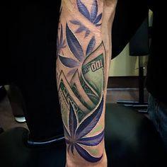 Stoned weed tattoos #marijuana #marijuanatattoos http://budposters.com/