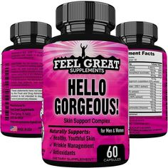 HELLO GORGEOUS Skin Hair Nails Supplement for Women