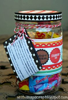 Write Snap Scrap: Teacher Gift: Candy Jar Pun Poem