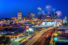 Fireworks Over Nashville by Malcolm MacGregor, via Flickr