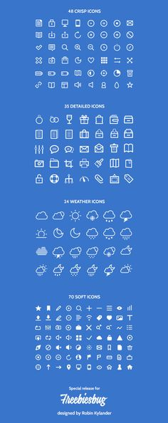 The freebie, provided in both Adobe Illustrator (AI) and Adobe Photoshop formats (PSD),  includes 48 crisp icons, 35 detailed icons, 24 weat...