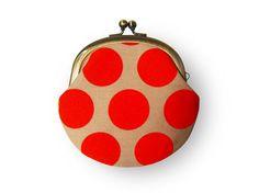 polka dot coin purse
