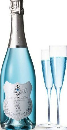 Blanc de Bleu Champagne; my favorite color but could it be good as a beverage?
