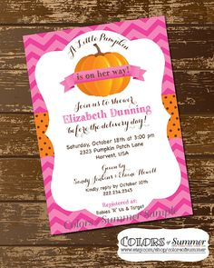 Pumpkin Baby Shower Invitation , A Little Pumpkin Is On Itu0027s Way, Rustic,  Fall   PRINTED 5x7 / Choice Of Envelope And Paper / Free Shipping |  Pinterest ...
