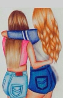 Best Drawings Sketching And Drawings Drawings Art Diy Drawing Bff Art Hair Drawings Ideas Colorful Hair Drawing Artsy Drawings Ideas People Drawings # Bff Images, Bff Pictures, Best Friend Pictures, Best Friend Drawings, Bff Drawings, Cool Drawings, Best Frends, Dibujos Tumblr A Color, Tumbrl Girls